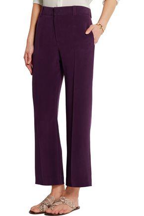 JOSEPH Lynval washed-silk wide-leg pants