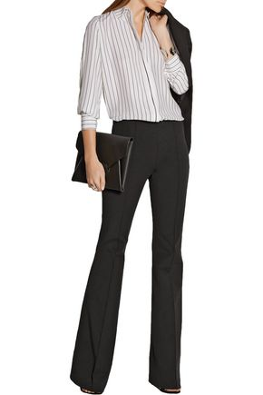 MICHAEL KORS COLLECTION Stretch-cotton and modal-blend flared pants