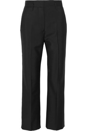 JIL SANDER Wool and mohair-blend straight-leg pants