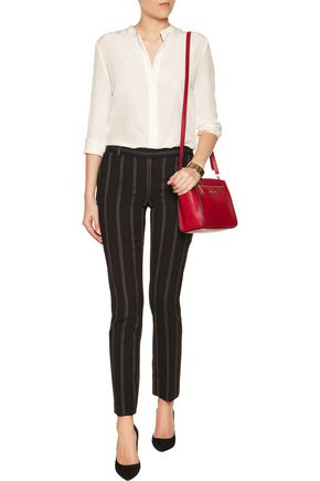JOSEPH Ben pinstriped wool-blend slim-leg pants