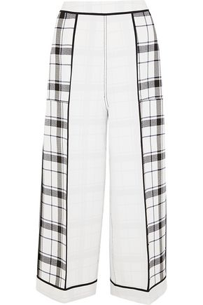 ACNE STUDIOS Odette checked crepe wide-leg pants