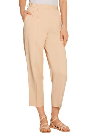 THE ROW Sala cropped crepe tapered pants