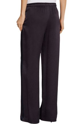 MAIYET Hammered silk-satin wide-leg pants