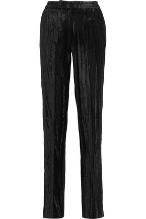 TOPSHOP UNIQUE Mayall crushed velvet straight-leg pants