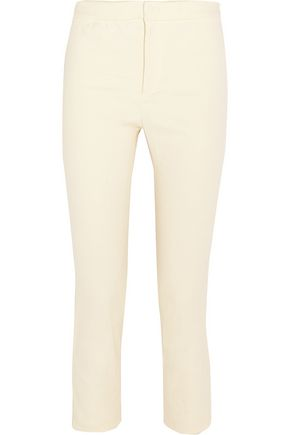 ISABEL MARANT Lindy cropped stretch linen-blend skinny pants