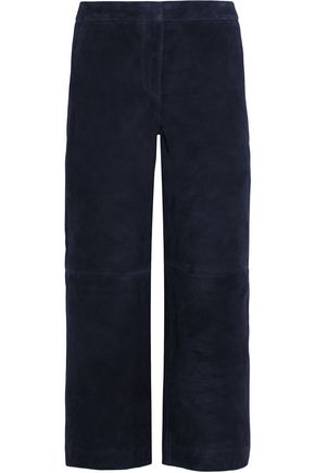 J.CREW Collection cropped suede wide-leg pants