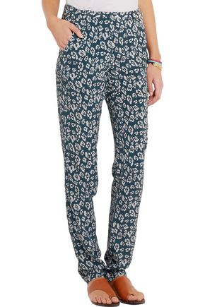 EQUIPMENT Carla printed washed-silk tapered pants