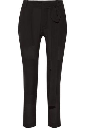 JUAN CARLOS OBANDO Poolside Tonka silk-georgette slim-leg pants