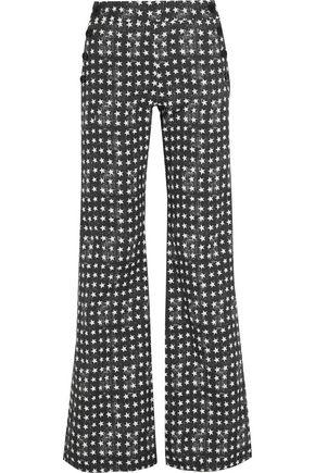 MAX MARA Printed stretch-cotton twill wide-leg pants