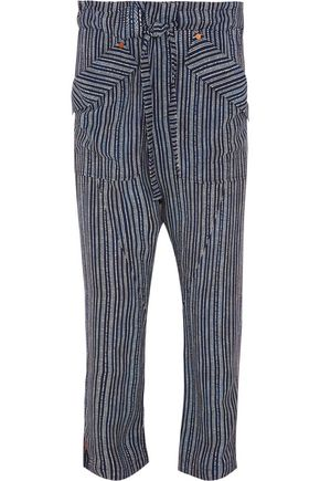 CHLOÉ Printed crepe tapered pants