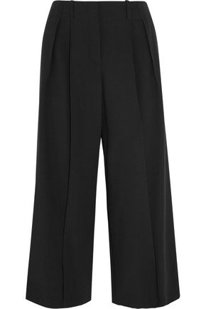 MICHAEL KORS COLLECTION Cropped wool-crepe wide-leg pants