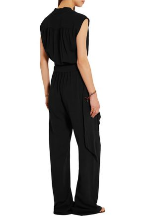 MICHAEL KORS COLLECTION Wrap-effect silk-georgette jumpsuit