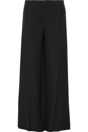 ROSETTA GETTY Paneled textured-crepe wide-leg pants
