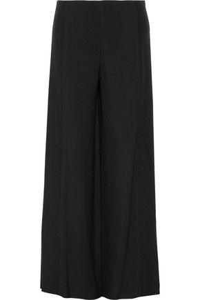 ROSETTA GETTY Paneled textured-crepe wide-leg pants