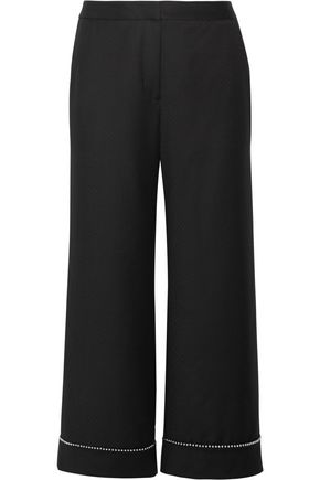 ALEXANDER WANG Embellished wool wide-leg pants