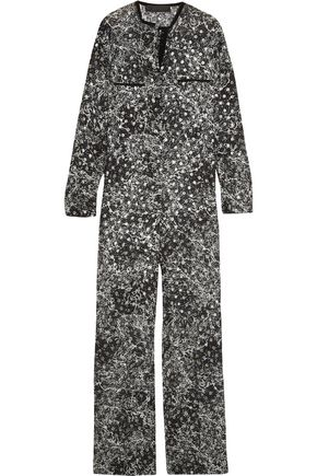 HAIDER ACKERMANN Metallic fil coupé silk-blend chiffon jumpsuit