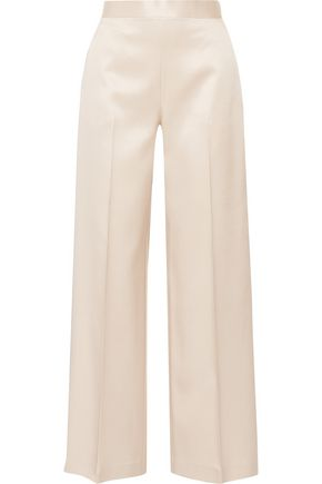 THE ROW Selip silk and wool-blend shantung wide-leg pants