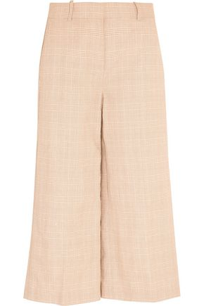 J.CREW Collection plaid linen and cotton-blend culottes
