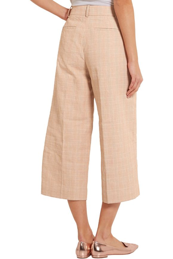 Collection plaid linen and cotton-blend culottes | J.CREW | Sale up to 70%  off | THE OUTNET