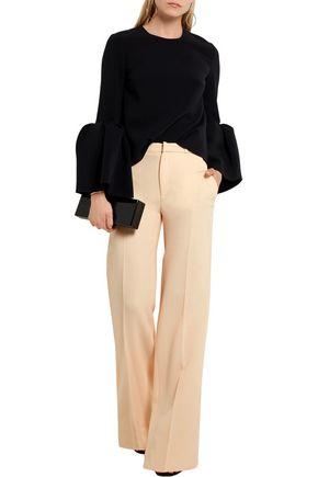 ROLAND MOURET Lucanus wool-crepe wide-leg pants