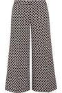 MICHAEL MICHAEL KORS Cropped printed stretch-crepe culottes