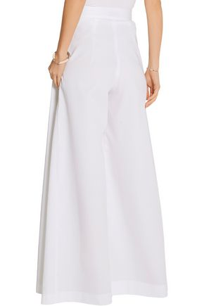 VIKA GAZINSKAYA Pleated cotton wide-leg pants