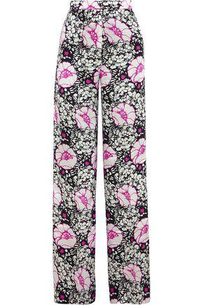 DURO OLOWU Zanzibar printed silk-satin wide-leg pants