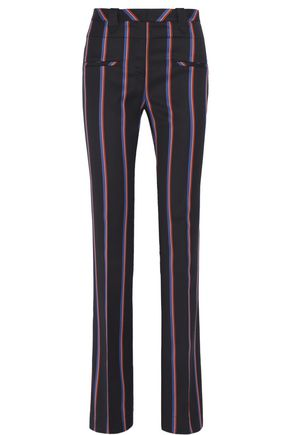 ALTUZARRA Serge striped wool and cotton-blend flared pants