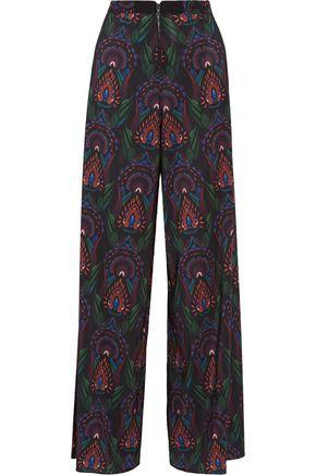 ALICE + OLIVIA Printed crepe wide-leg pants