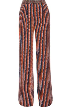 DIANE VON FURSTENBERG Campbell printed stretch-silk wide-leg pants