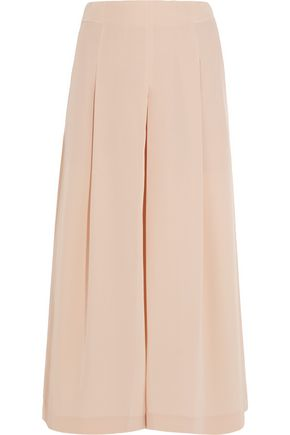 TIBI Pleated silk crepe de chine culottes