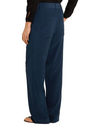 TIBI Tie-side silk crepe de chine wide-leg pants