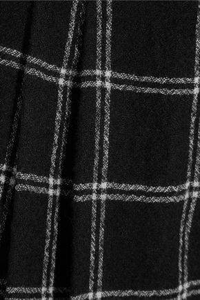 TIBI Edie checked wool-blend culottes