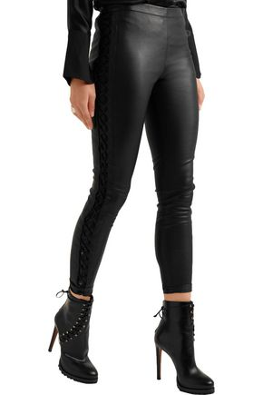 HAIDER ACKERMANN Lace-up leather leggings
