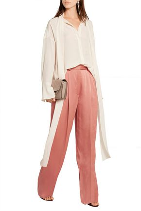 LANVIN Satin wide-leg pants