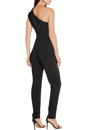 SALONI Alice one-shoulder stretch-crepe jumpsuit