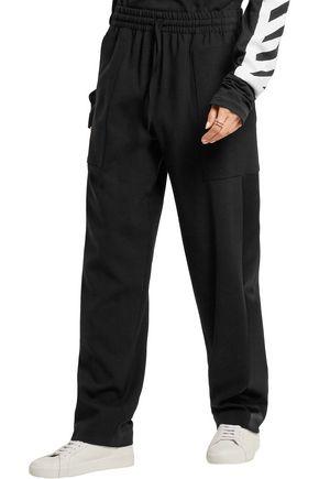 JOSEPH Astrid satin-trimmed stretch-wool wide-leg pants