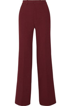 JOSEPH Fergus satin-trimmed stretch-twill wide-leg pants
