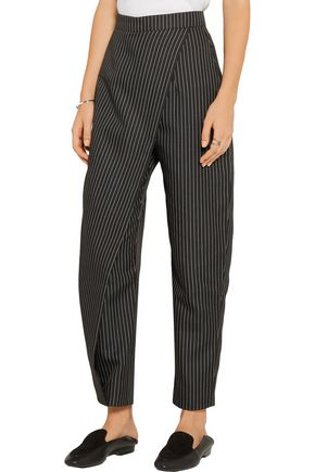 PAPER London Angel pinstriped twill tapered pants