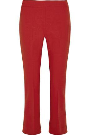 MAX MARA Cropped stretch-wool flared pants