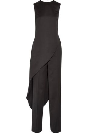 ESTEBAN CORTAZAR Asymmetric wool top and wide-leg pants