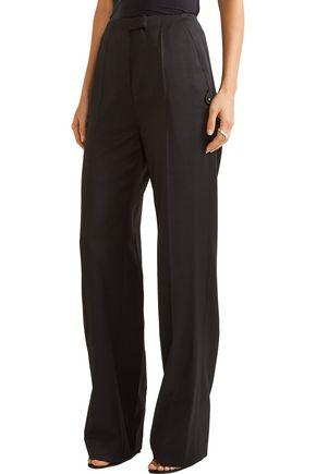 ESTEBAN CORTAZAR Asymmetric wool top and wide-leg pants