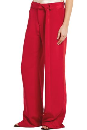 JUAN CARLOS OBANDO Lillian silk-crepe wide-leg pants