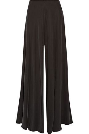 THE ROW Anissa washed silk-charmeuse wide-leg pants