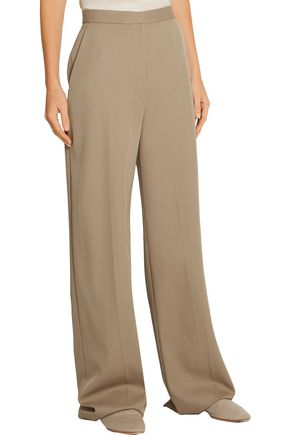 THE ROW Mailan wool-gabardine wide-leg pants