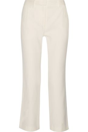 ADAM LIPPES Stretch-gabardine straight-leg pants