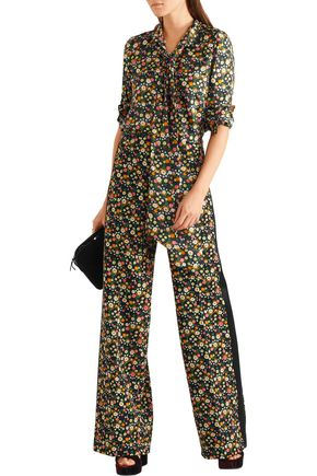 TORY BURCH Folly floral-print crepe wide-leg pants
