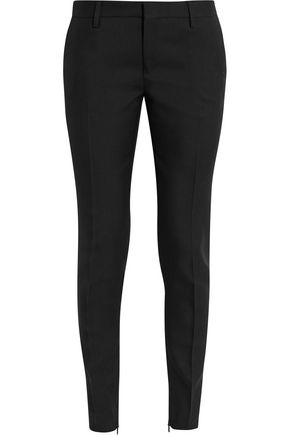 SAINT LAURENT Wool-gabardine slim-leg pants