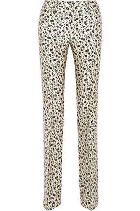 ALTUZARRA Serge floral-jacquard flared pants