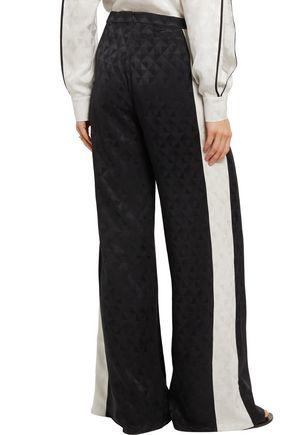 ZEUS + DIONE Alcyone wrap-effect silk-jacquard wide-leg pants